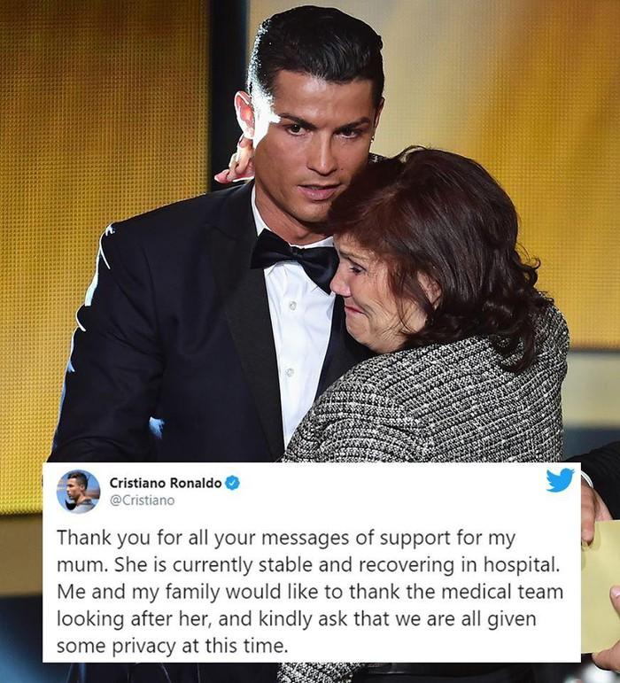 Ronaldo và mẹ của anh ấy