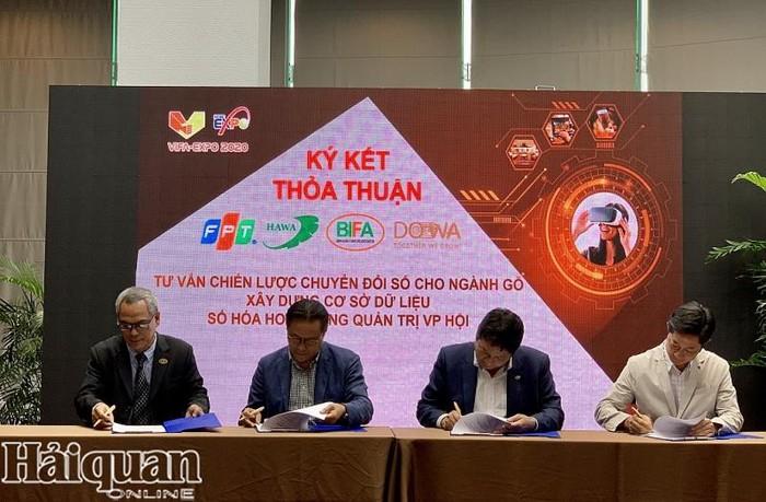 ký kết thão thuận chuyển đổi số cho các doanh nghiệp gỗ ở Việt Nam