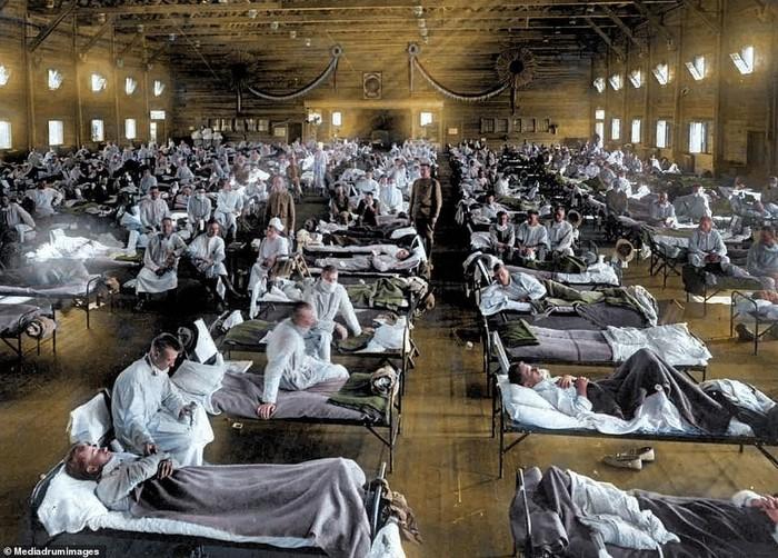 Một phòng điều trị bệnh nhân đại dịch cúm Tây Ban Nha