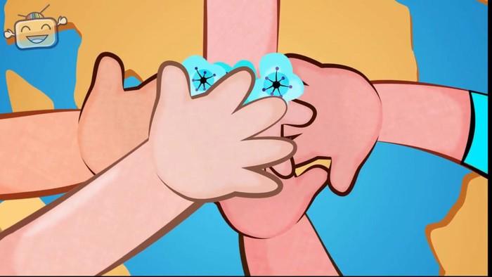 hình minh họa cho khúc hát đôi bàn tay